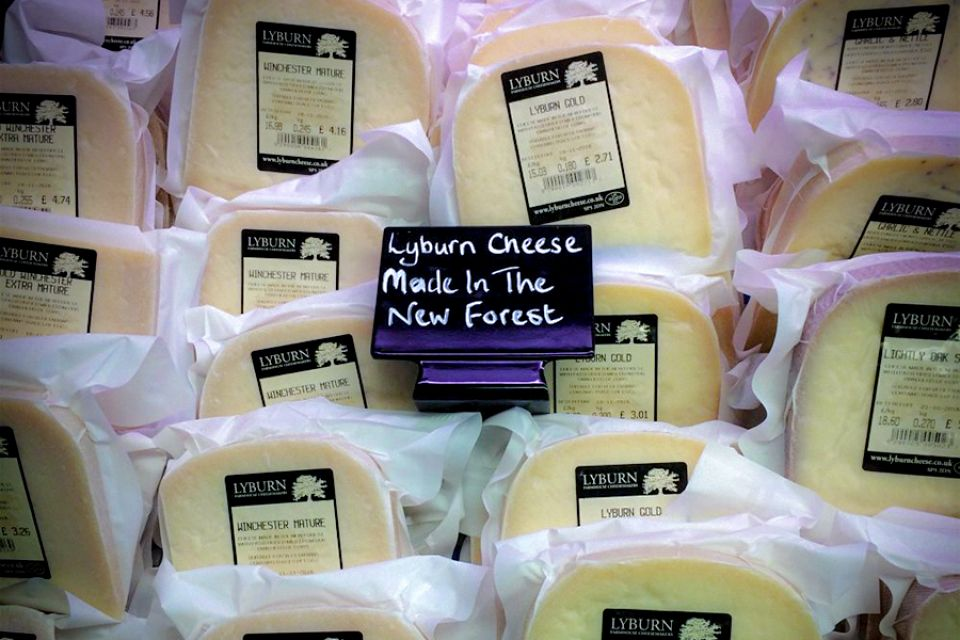 Lyburn cheese in supermarket